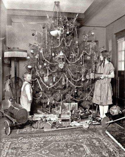 Sapin de Noël d'autrefois