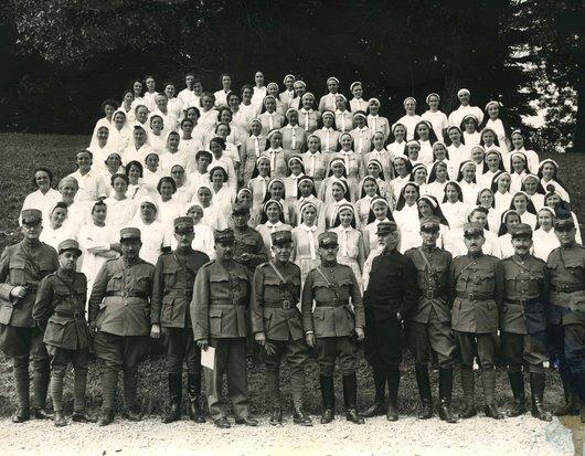 Infirmières Sourciennes mobilisées en 1939
