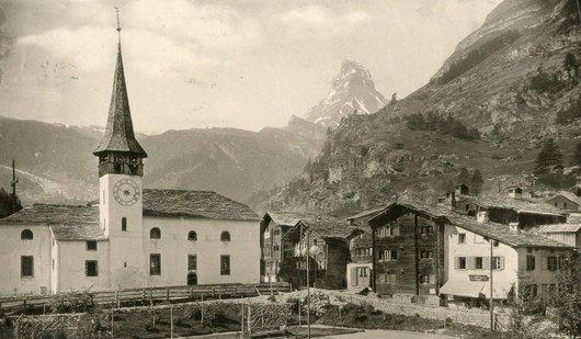 Zermatt église village