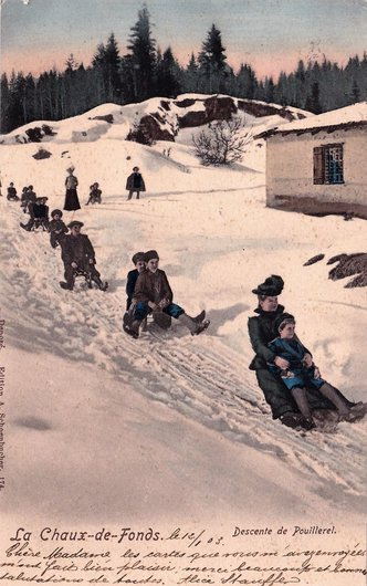 La Chaux-de-Fonds. Descente du Pouillerel.