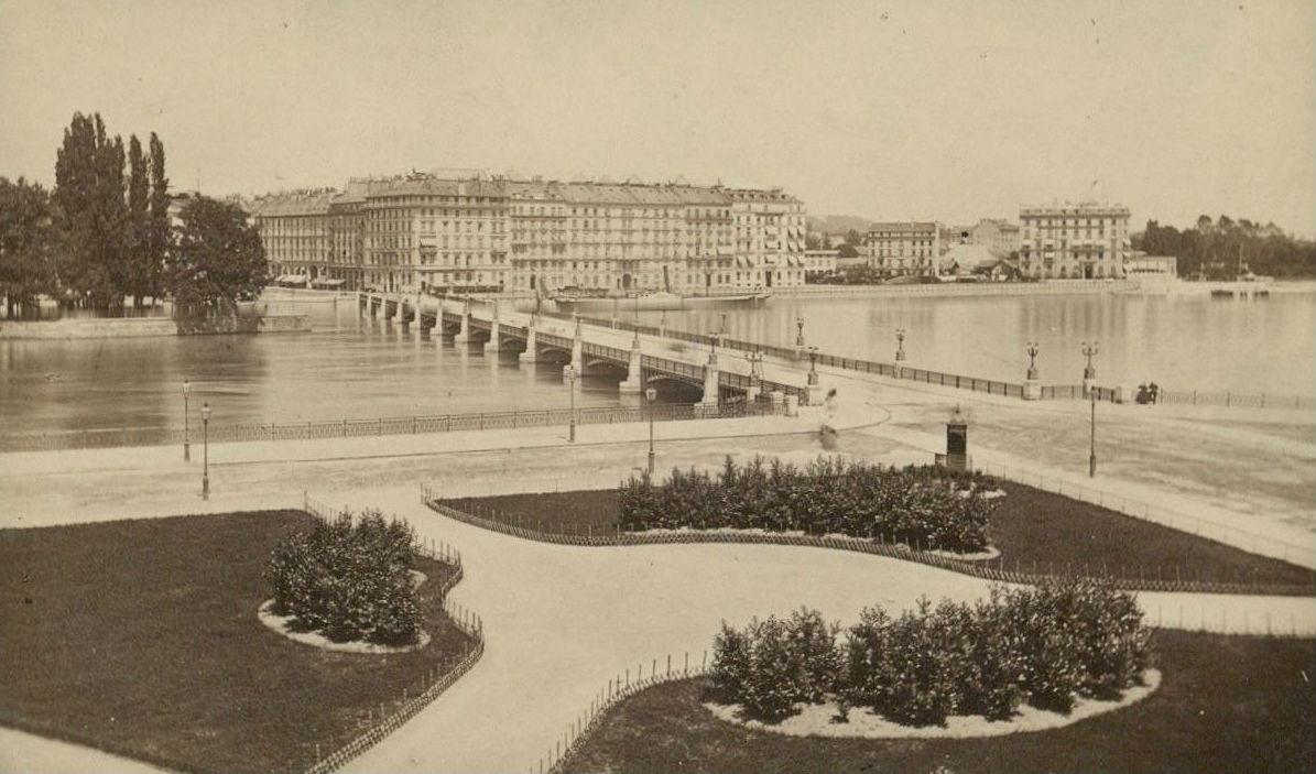 Geneve pont du mont blanc jardin anglais notre histoire for Jardin anglais histoire