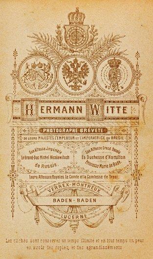 Cartouche de Hermann Witte, Vernex-Montreux