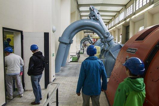 Visite guidée de la centrale hydroélectrique de Mottec, Anniviers