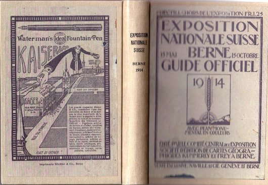 Guide officiel de l'exposition nationale suisse 1914