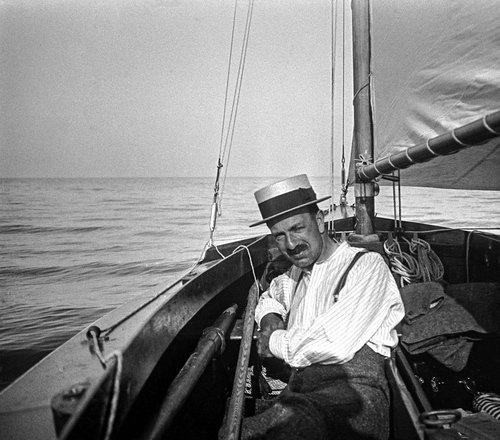 En voilier sur le Léman
