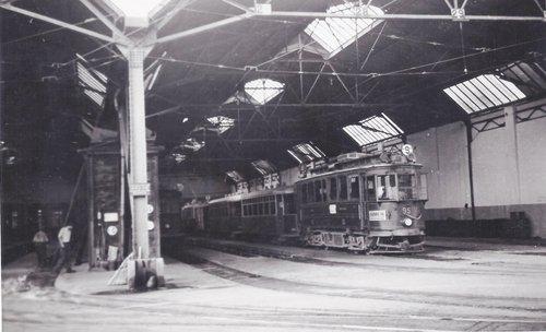 CGTE tram ligne N°9 au dépôt de la Jonction en 1929