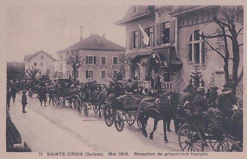 Sainte Croix réception des prisonniers Français