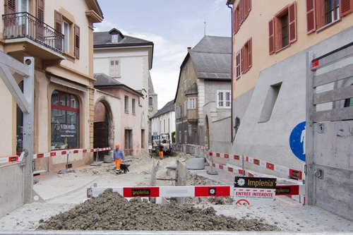 Transformation de la rue du Bourg, Sierre