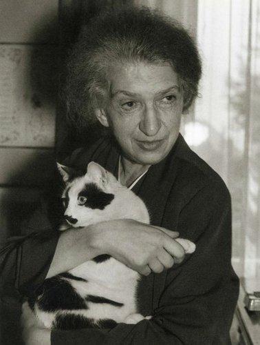 Clara HASKIL et son chat Jérôme