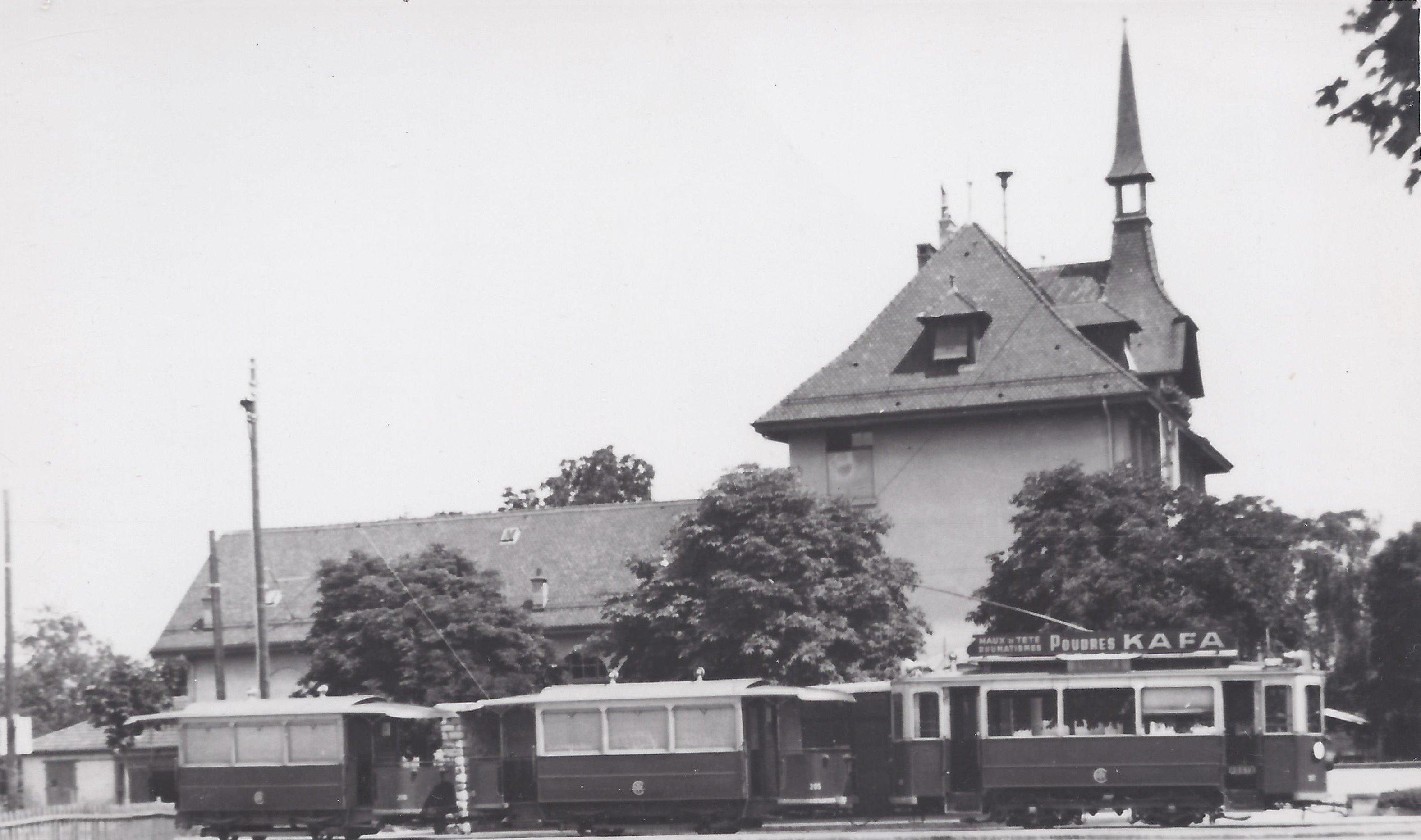 CGTE tram ligne N°6 à Vernier