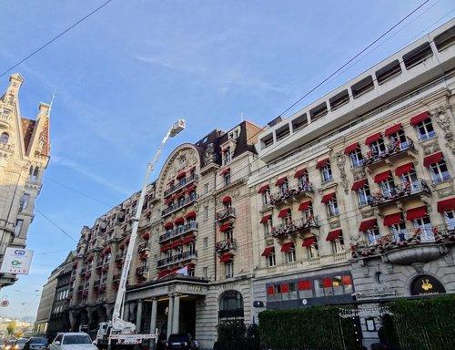 Le Lausanne Palace revêt son habit de fêtes