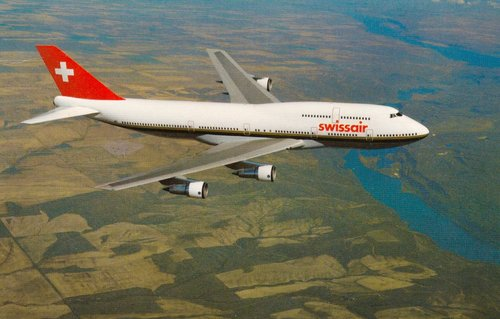 Boeing 747-357 de Swissair