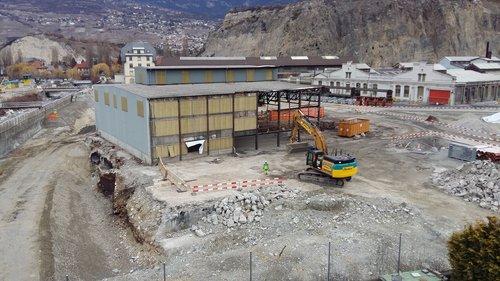 Déconstruction site Alusuisse Chippis