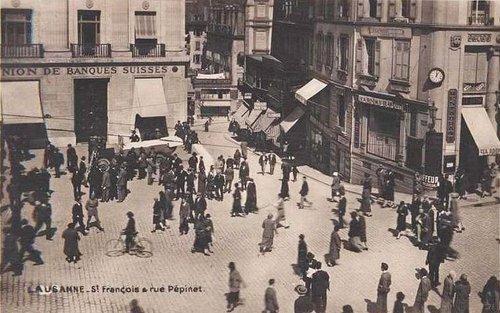 Lausanne Saint François et rue Pépinet