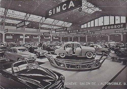 Genève salon de l'Auto en 1953