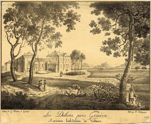Les Délices, près Genève. Ancienne habitation de Voltaire