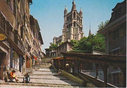 Lausanne - Les Escaliers du Marché