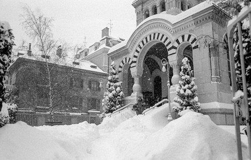 Genève, la neige du siècle et l'Eglise Russe