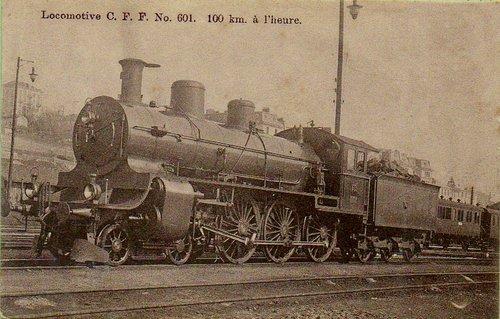 Lausanne locomotive à vapeur C.F.F