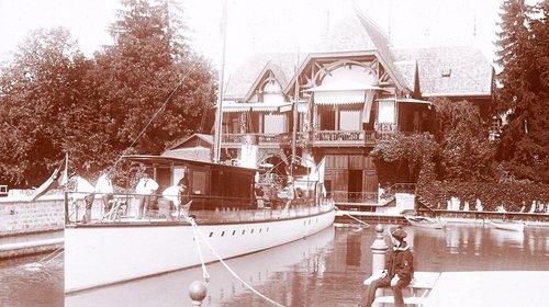 Le Gitana II de la Baronne de Rothschild dans son port
