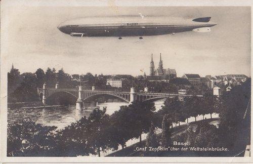 Zeppelin LZ127 au-dessus de Bâle