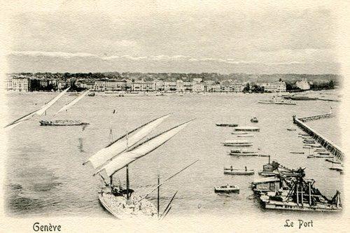 Genève, l'ancien port