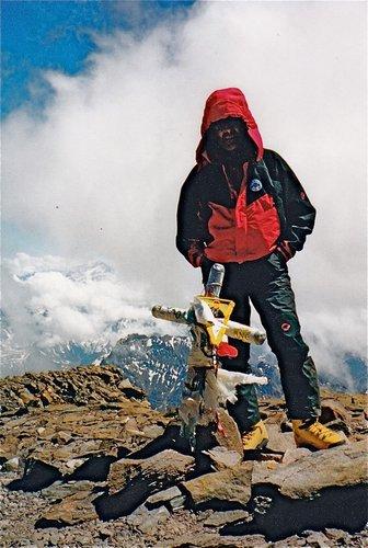 L'Aconcagua, 6962 mètres, et le guide suisse Matthias Zurbriggen