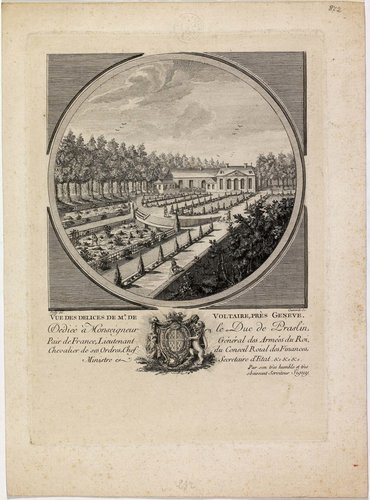 Vue des Délices de M. de Voltaire, près Genève