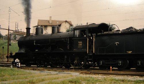 Locomotive à vapeur A 3/5. N: 705
