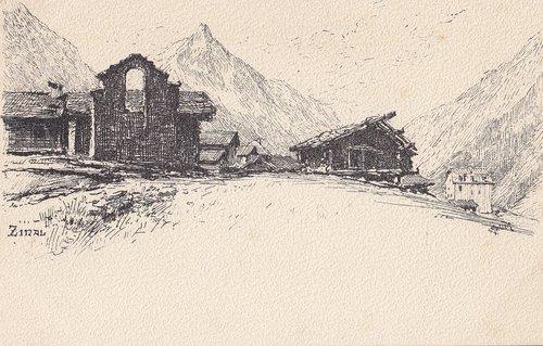 Zinal vu par Charles Meltzer