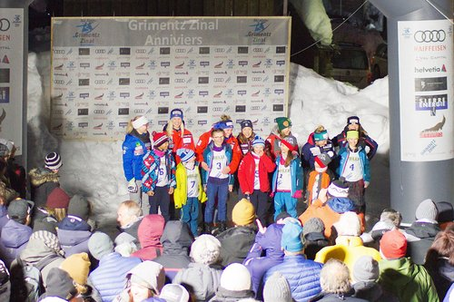 Remise des dossards au jeunes skieurs