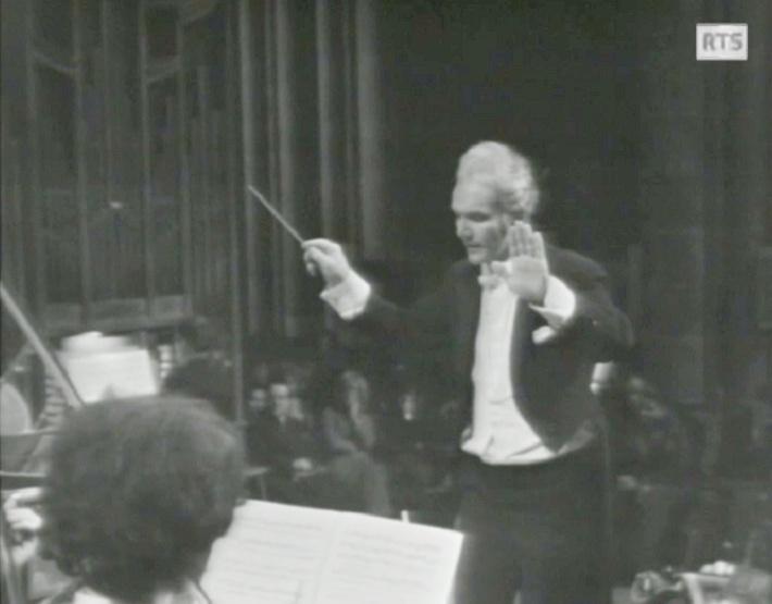 «Magnificat de Bach - Michel Corboz», 2 mars 1973, Cathédrale de Genève, Radio Télévision Suisse, cliquer pour une vue agrandie