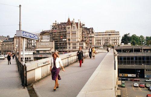 Lausanne, la Passerelle du Grand-Pont