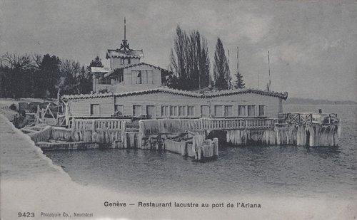 Genève restaurant Lacustre sous la glace