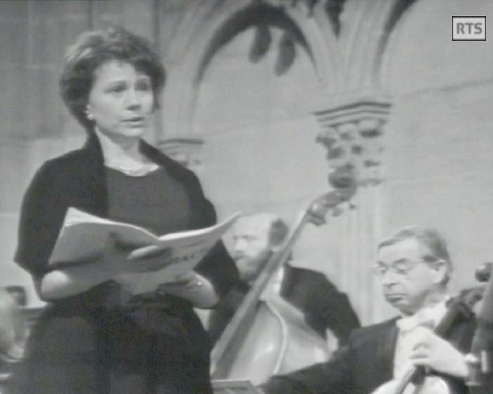 «Messe de Bach - Michel Corboz», 2 mars 1973, Cathédrale de Genève, Radio Télévision Suisse, cliquer pour une vue agrandie