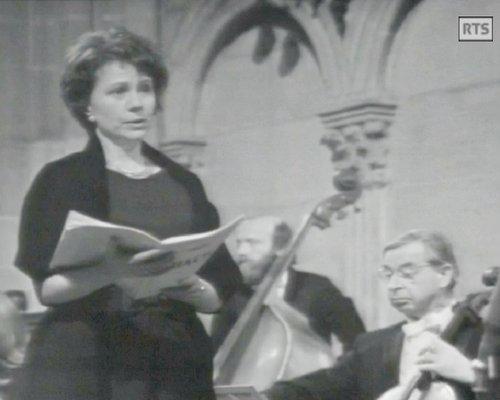 Wally STÄMPFLI, «Messe de Bach - Michel Corboz», 2 mars 1973, Cathédrale de Genève, Radio Télévision Suisse