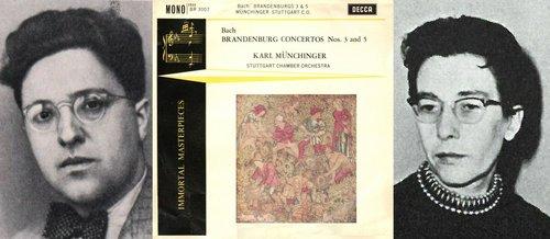 J.S.BACH, Concerto brandebourgeois No 5, BWV 1050, Germaine VAUCHER-CLERC, André PÉPIN, Orch.Chambre Stuttgart, Karl MÜNCHINGER