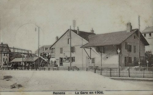 Renens la gare en 1906