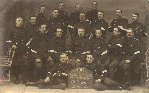 Lausanne Pontaise école de recrues 1912
