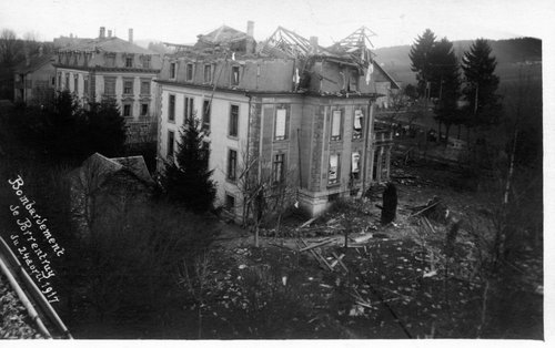 Bombardement de Porrentruy 24 avril 1917