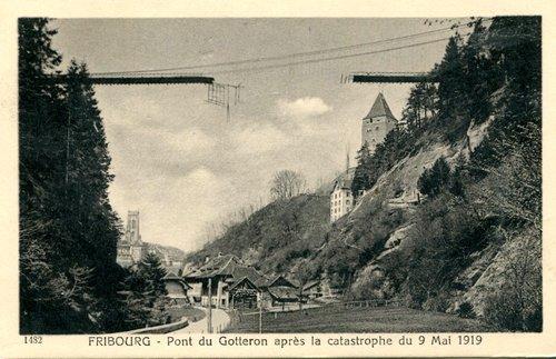 Fribourg, pont du Gotteron, Catastrophe