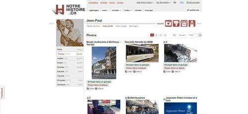 """Notre Histoire ancien site Internet, page """"Vos documents Dossiers"""""""