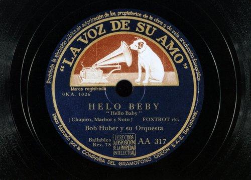 """Bob Huber Y Su Orquesta, """"Helo Beby"""""""