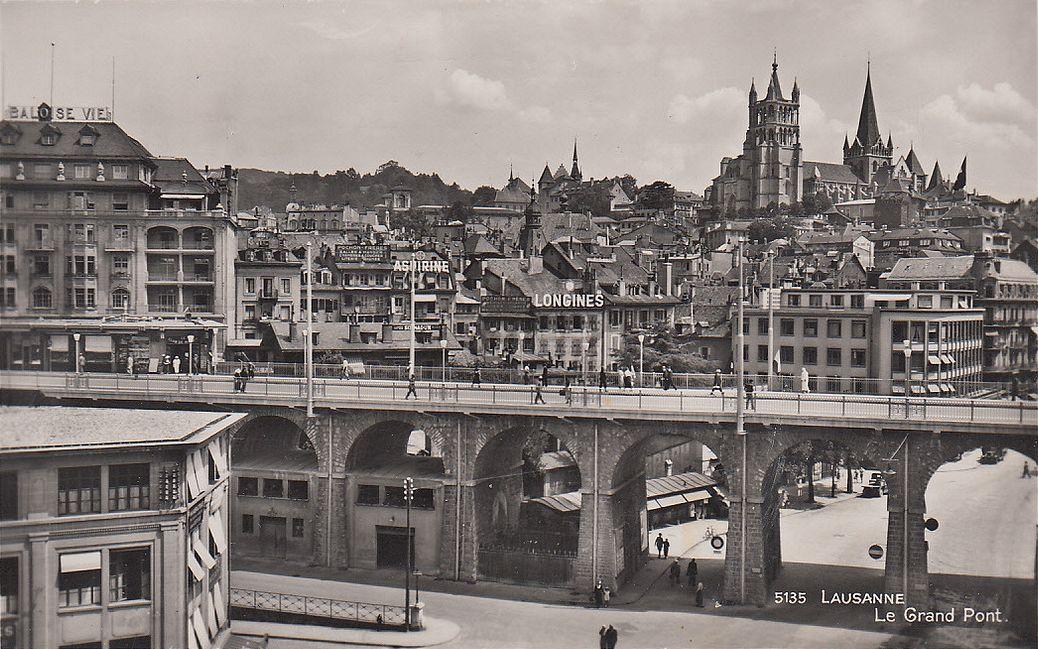 Lausanne le grand pont