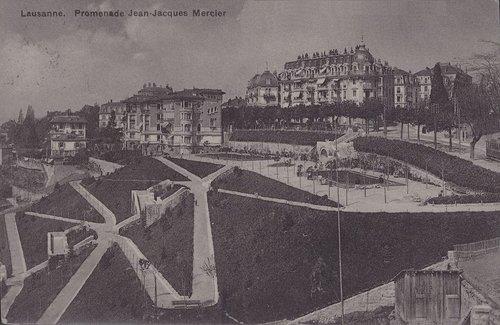 Lausanne promenade J-J Mercier