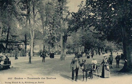 Genève, parc des Bastions
