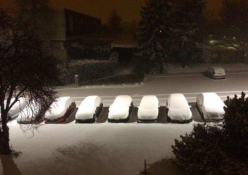 La neige dans la nuit