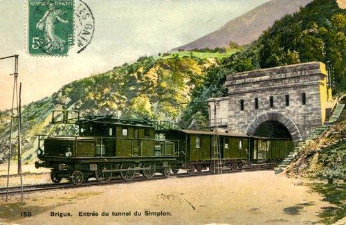 Simplon: l'une des 1ère locomotives
