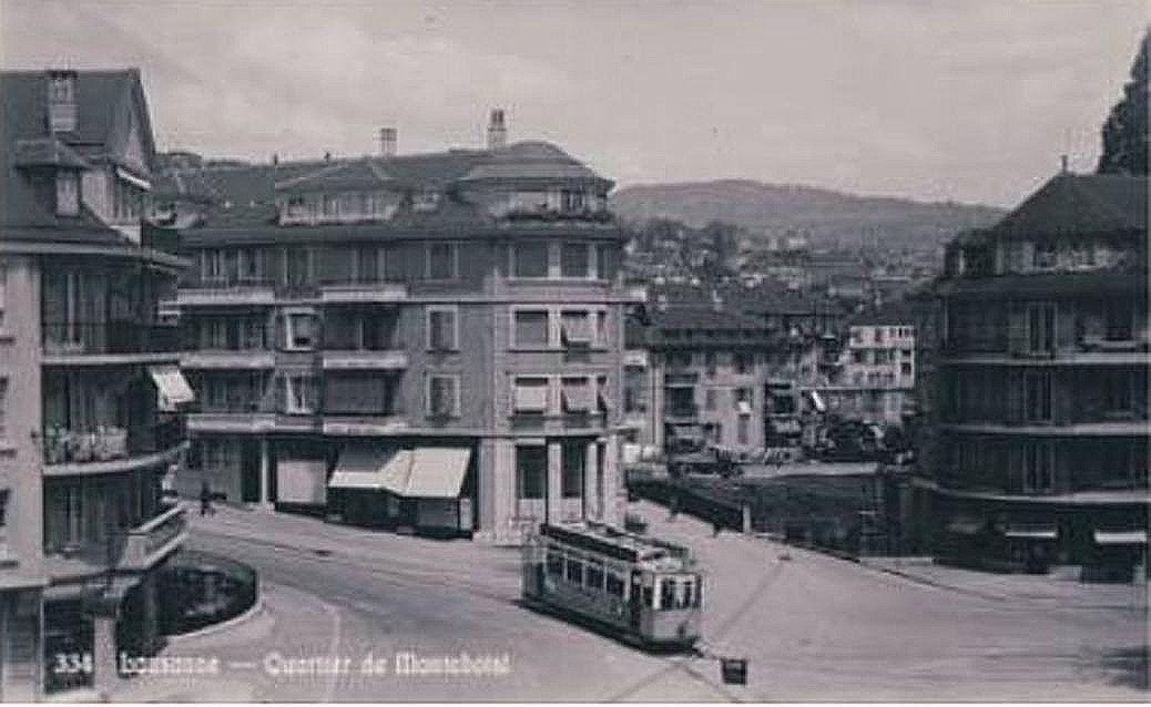 Lausanne le tram à Montchoisi