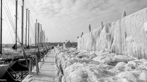 Genève, le gel en janvier 1985